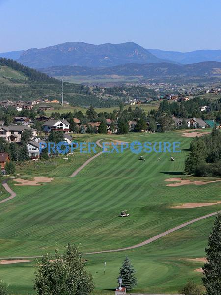 Golf, Sheration course, sleeping giant, Steamboat Springs, Colorao
