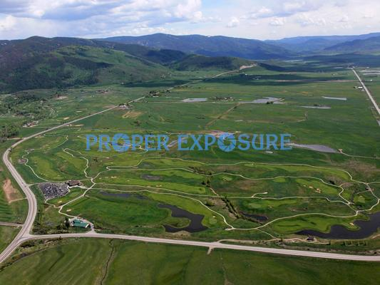 Golfing, Steamboat Springs, Colorado, Rocky Mountains, Ken Proper, aerial haymaker