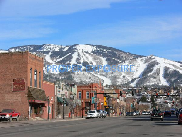 Downtown, Steamboat Springs, Colorado, Rocky Mountains, Ken Proper, Lincoln Ave