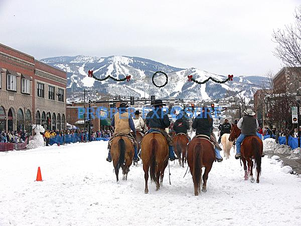Winter, Carnival, Winter Carnival, downtown, street, event, events, Steamboat Springs, Colorado, Ken Proper, horse, cowboy, skier, ski area
