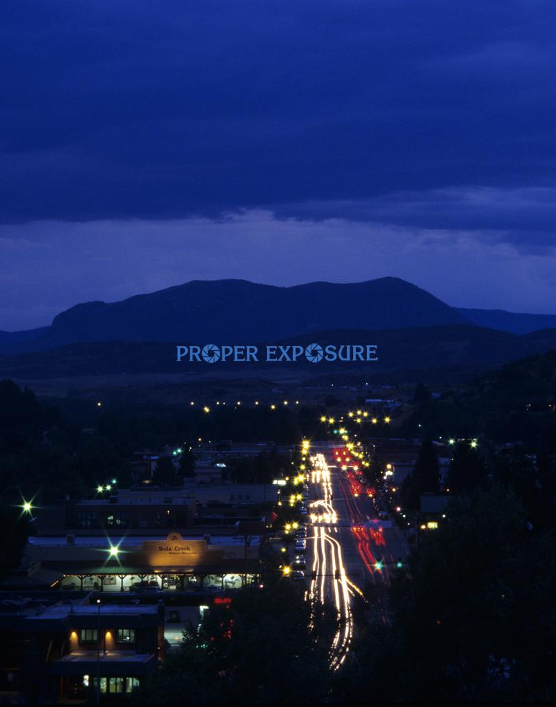 Downtown, Steamboat Springs, Colorado, sleeping giant, sunset, Lincoln,