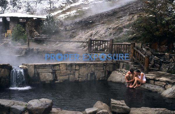 Strawberry, Park, Hot, Springs, Steamboat, Springs, Colorado, CO, Routt, County, Mineral, water, swimming, pool, pools, Ken Proper, soak, bath,  steam, females, couple, romantic, winter, snow