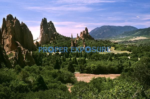 Garden of the Gods, Colorado Springs, CO, Ken Proper, Pike's Peak, blue, sky