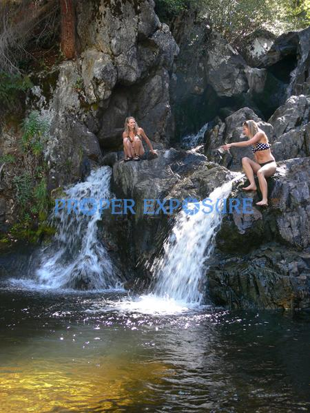 walk, hike, female, females, water, swim, wade, Fish Creek, falls, routt, forest, Steamboat, Springs, CO, Colorado, Rocky Mountains, Ken Proper