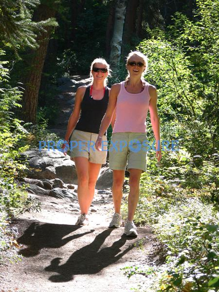 walk, hike, female, females, Fish Creek, falls, routt, forest, Steamboat, Springs, CO, Colorado, Rocky Mountains, Ken Proper