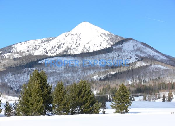 Hahns, Peak, Steamboat Lake, sunny, blue sky, winter, snow
