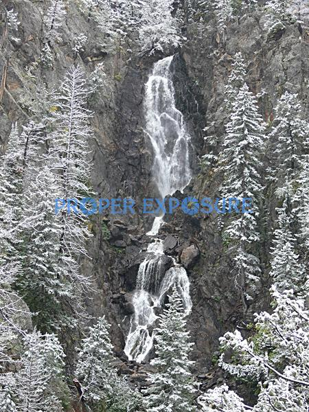 Fish, Creek, Falls, snow, rocks, rocky mountain, Ken Proper, winter, Steamboat, Springs, Colorado, CO