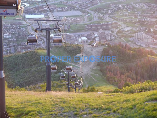 Summer, Gondola, Ski Area, sunset, view, valley, Yampa, Steamboat, Steamboat Springs, Colorado, CO Rocky Mountain, Ken Proper, bike, mountain