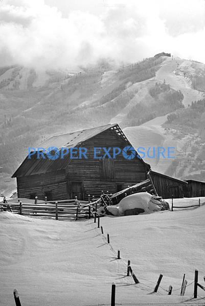 Steamboat, Springs, Barn, winter, cloudy, fog, snow, Black and white, B&W, Ken Proper
