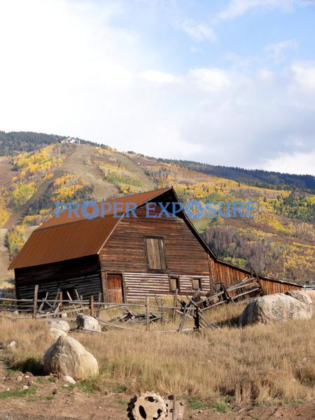 Steamboat, Springs, Barn, Fall, Foliage, Blue Sky, Colorado, Ken Proper