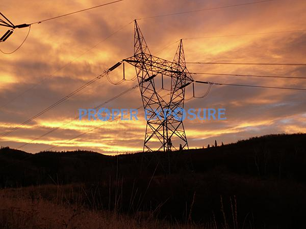 Sunset, Sunrise, clouds, electricity, power, line, transmission, towers, Emerald, Mountain, BLM, Bureau of Land Management, recreation, Steamboat, Steamboat Springs, Colorado, CO, Ken Proper