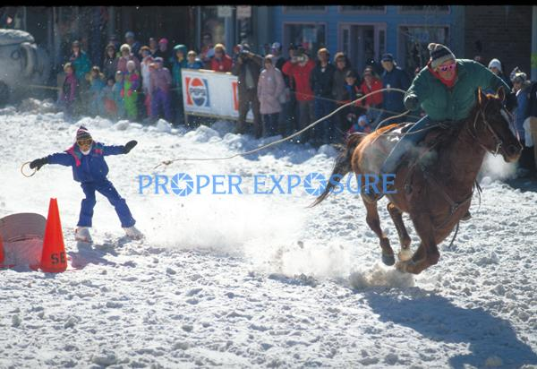 Winter, Carnival, event, horse, skier, Steamboat Springs, Colorado, Rocky  Mountain, Ken Proper