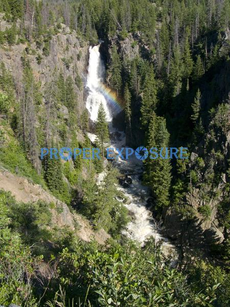 Steamboat Springs; Colorado; Fish; Creek; Falls; Routt County; Ken Proper; water; rainbow; rocks; evergreens; pine; tree; Fish Creek Falls