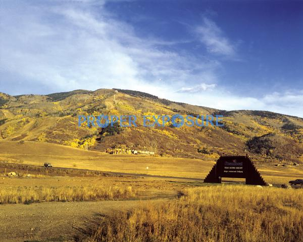 Steamboat, Springs, Ski, Area, Fall, 1976, early, autumn, base, mountain, Hang glider, ski area, base area