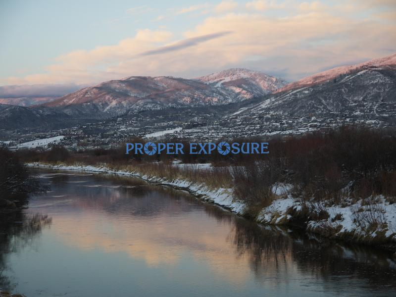Yampa, River, snow, water, alpenglow, clouds; sunset; fishing,