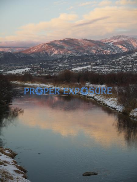 Yampa; River; Routt County; water; clouds; blue; sky,Yampa River; sunset; blue; sky; fishing; winter; water