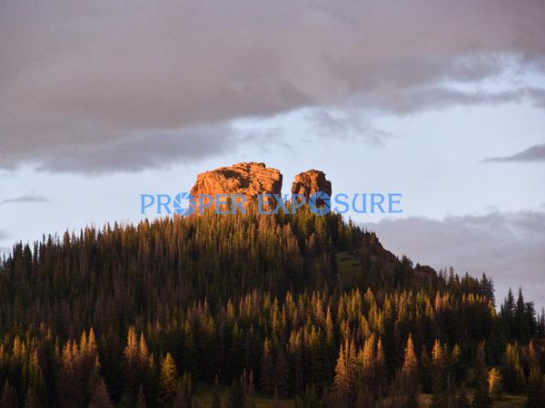 Rabbit Ears; Peak; Routt County; Medicine Bow; National, Forest; sunset, horizontal