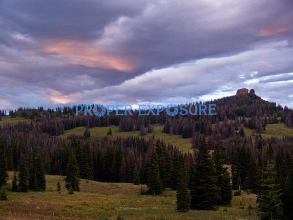 Rabbit Ears; Peak; Routt County; Medicine Bow; National, Forest; sunset, horizontal, clouds