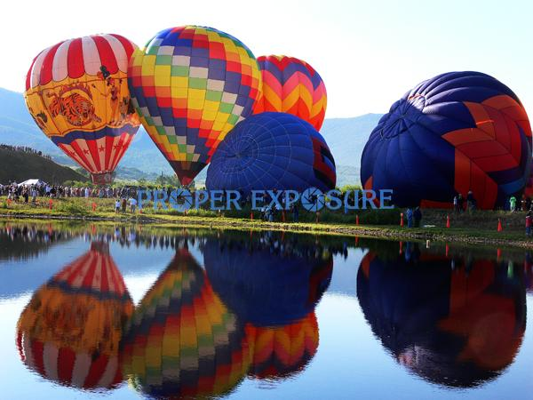 Steamboat Springs, balloon, balloons, rodeo, sun, lake, reflection, pond, colorful