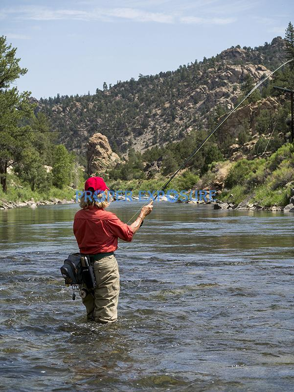 Arkansas River; Colorado; fly fishing; trout; Browns Canyon; female, angler, flyfishing