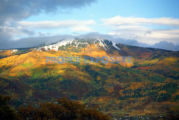 Steamboat Ski Area, fall, colors, snow, Steamboat Springs, Colorado, Rocky  Mountain, Ken Proper