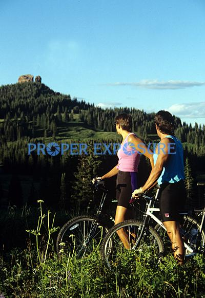 Mountain biking, couple, rabbit ears, Steamboat Springs, Colorado, Rocky  Mountain, Ken Proper