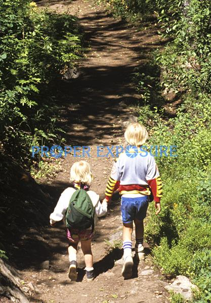 children, kids, walking, hiking, Ken Proper, Steamboat Springs, Colorado, Rocky Mountains, USA